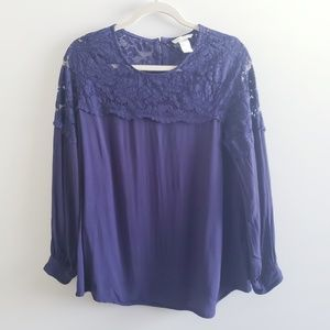 H&M MAMA Lace Top Blouse